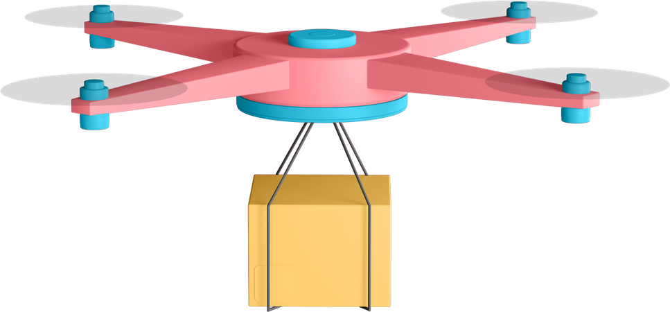 Drone Delivery 3D Illustration