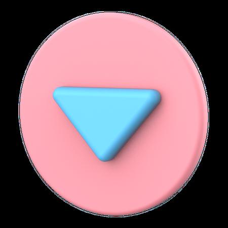 Dropdown button 3D Illustration