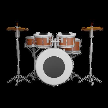 Drum Set 3D Illustration