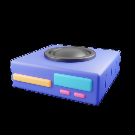 Dvd Player 3D Illustration