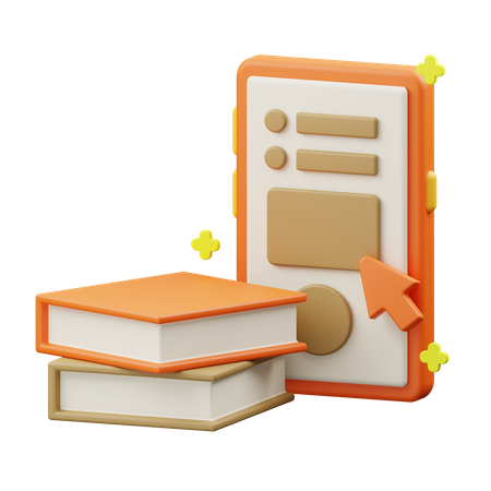 E-books 3D Illustration