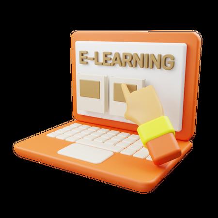E-Learning 3D Illustration