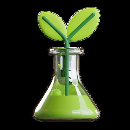 Eco Plant 3D Illustration