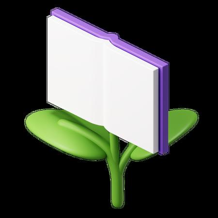 Ecological Book 3D Illustration