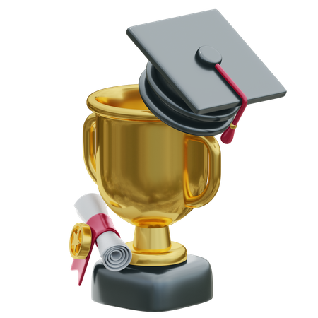 Education Trophy 3D Illustration
