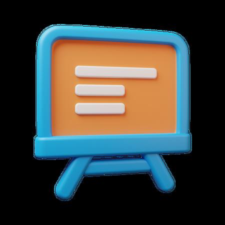 Educational Board 3D Illustration