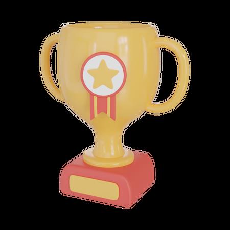 Educational Trophy 3D Illustration
