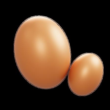 Eggs 3D Illustration