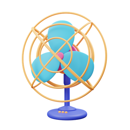 Electric Fan 3D Illustration