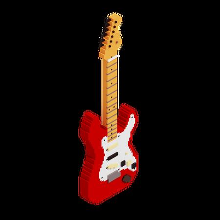 Electric Guitar 3D Illustration