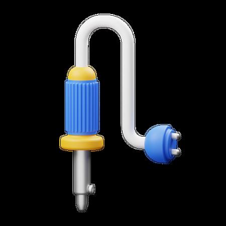 Electric Solder 3D Illustration