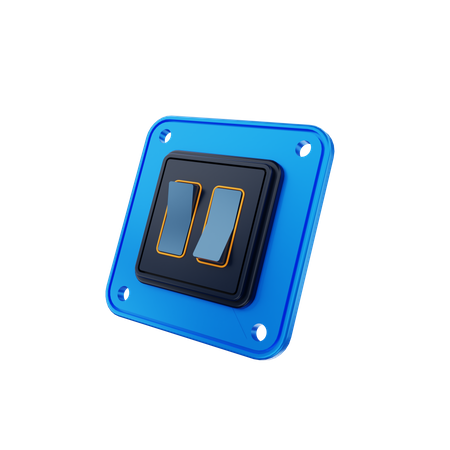 Electric Switch 3D Illustration
