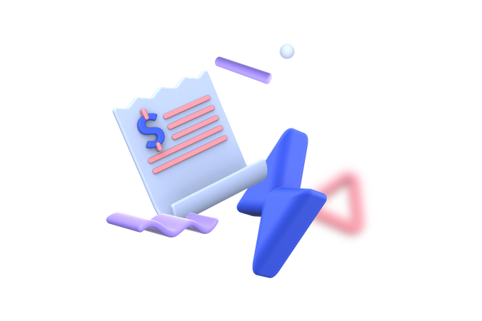 Electricity Bill payment 3D Illustration
