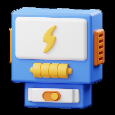 Electricity Meter 3D Illustration