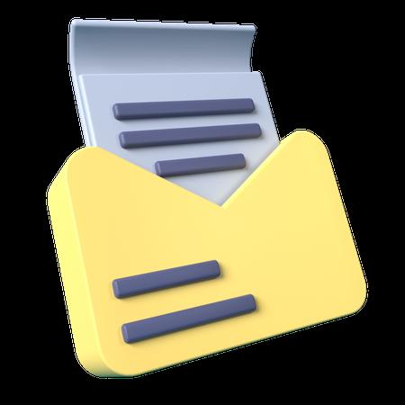 Email 3D Illustration