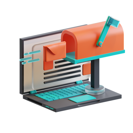 Email campaign 3D Illustration
