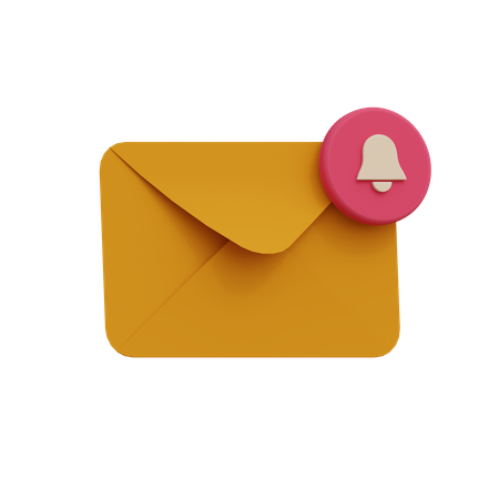 Email Notification 3D Illustration