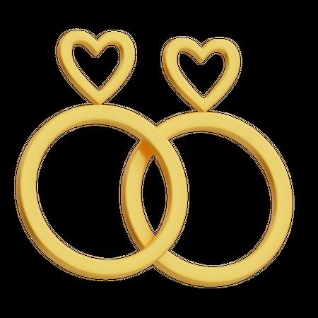 Engagement Ring 3D Illustration