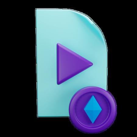 Ethereum Media File 3D Illustration