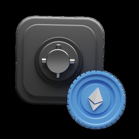 Ethereum Safe 3D Illustration