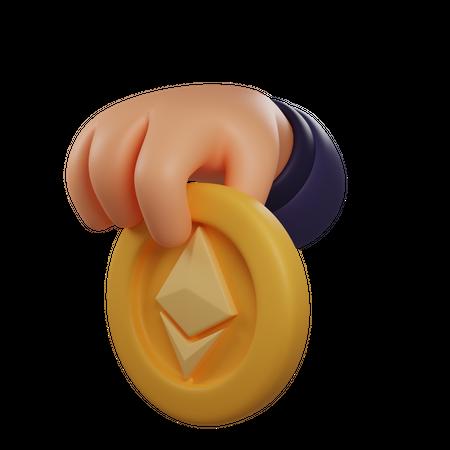 Etherium Coin 3D Illustration