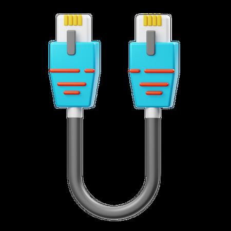 Ethernet Cable 3D Illustration