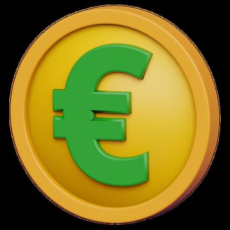 Euro Coin 3D Illustration