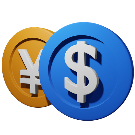 Exchange Currency 3D Illustration