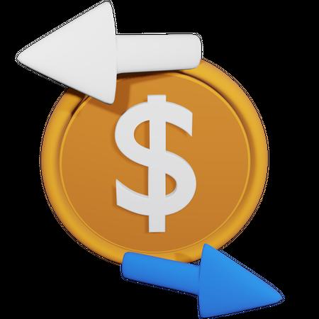 Exchange Money 3D Illustration