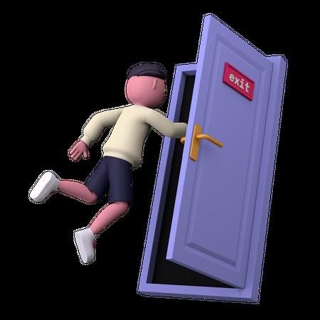Exit 3D Illustration