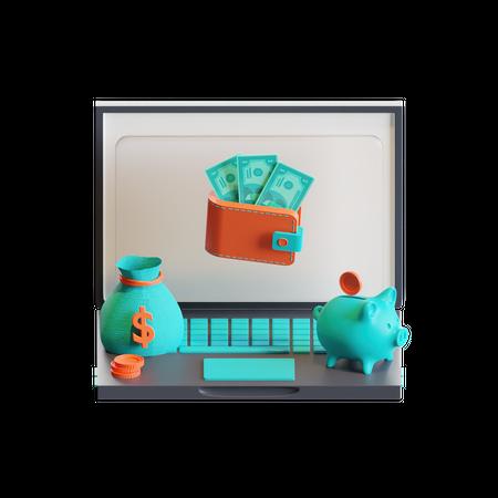 Expenses 3D Illustration