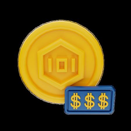 Expensive NFT Token 3D Illustration
