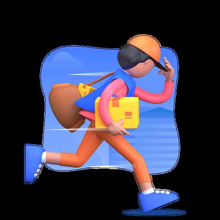 Express delivery 3D Illustration