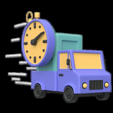 Fast Delivery 3D Illustration