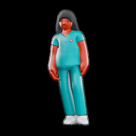 Female Nurse 3D Illustration