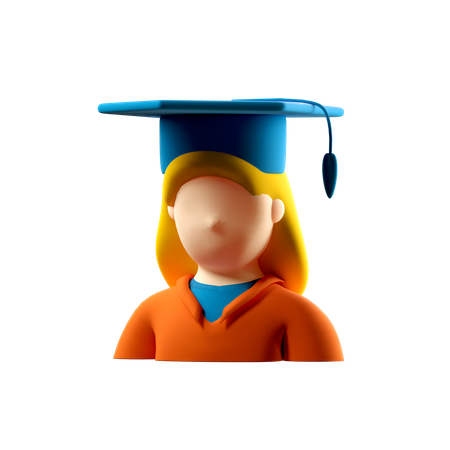 Female Student  3D Illustration