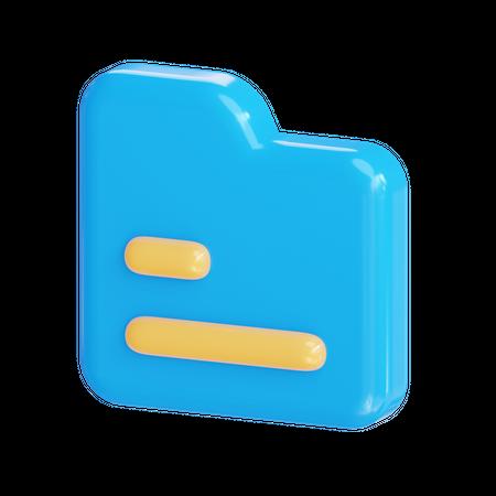 File 3D Illustration