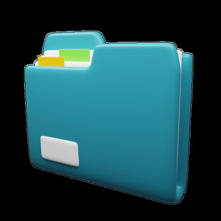 File Folder 3D Illustration