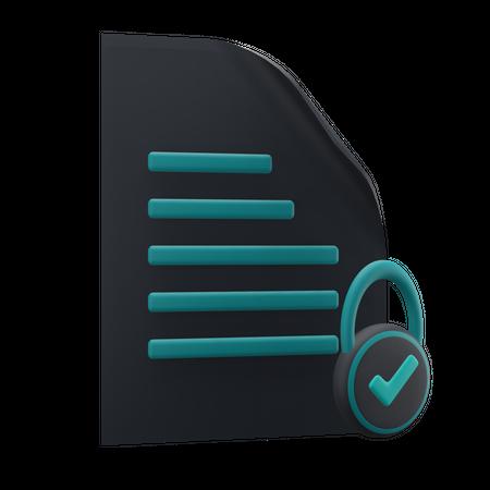 File Security 3D Illustration