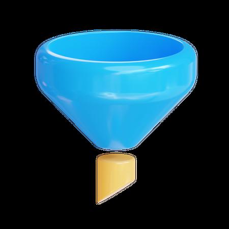 Filter 3D Illustration