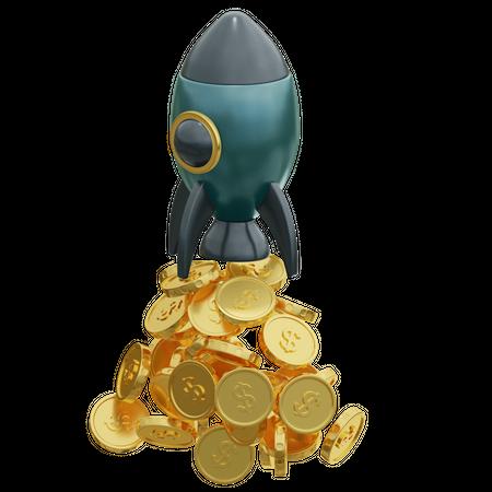 Finance Startup 3D Illustration