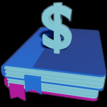Financial Book 3D Illustration