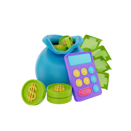 Financial Budget 3D Illustration