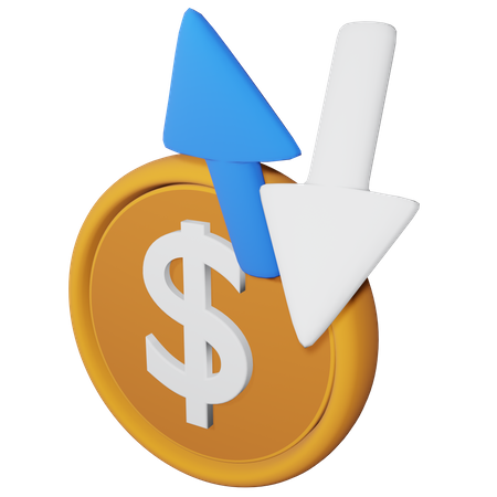 Financial Flow 3D Illustration