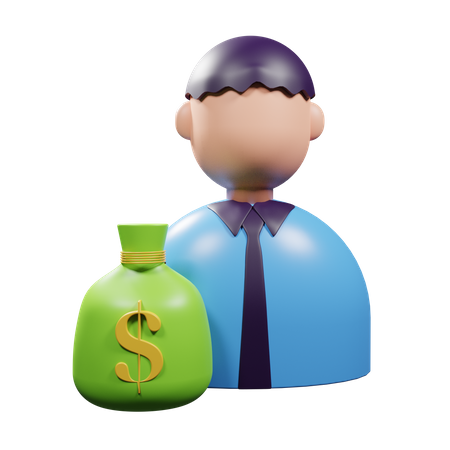 Financial Freedom 3D Illustration