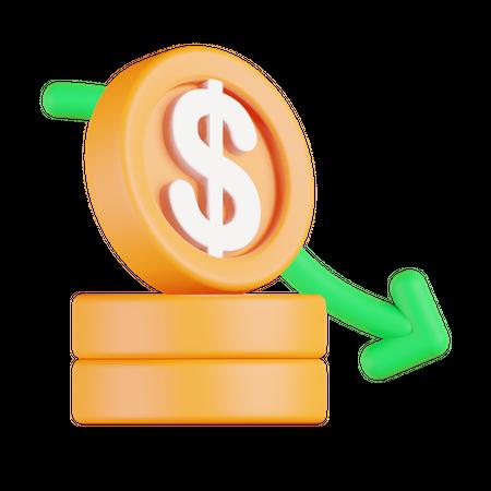 Financial loss 3D Illustration