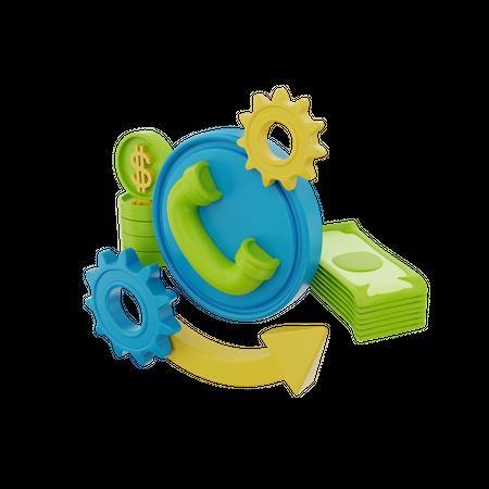 Financial Service 3D Illustration