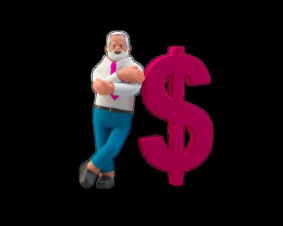 Financier 3D Illustration