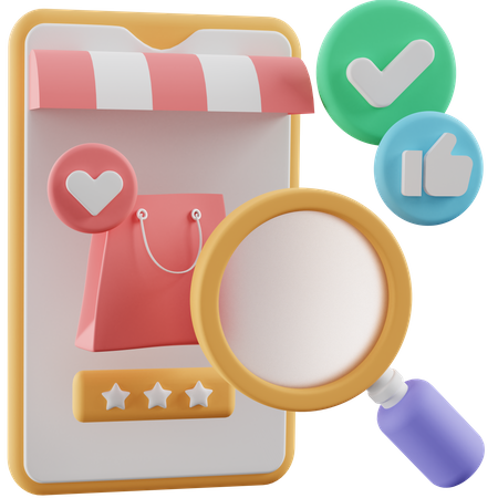 Finding Products 3D Illustration