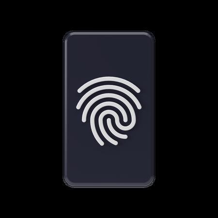 Fingerprint 3D Illustration